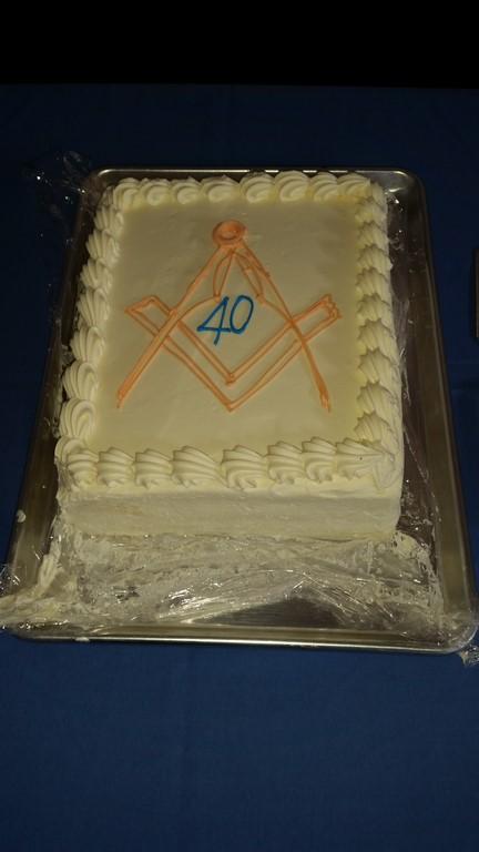 Alf's 40 year cake