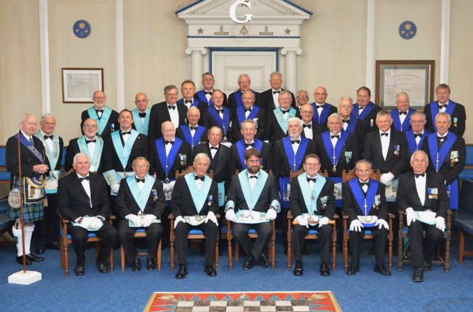 Lodge members and visitors for a final and historical group gathering