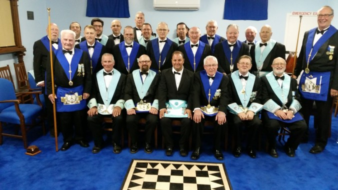 Bro Scott Morgan with the Team, Lodge Members and Visitors