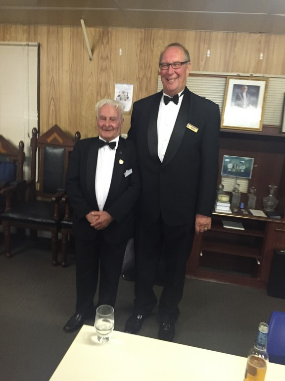 RW Bro Russell at 5 feet and a bit and RW Bro Gill at 6 feet and a lot!!!